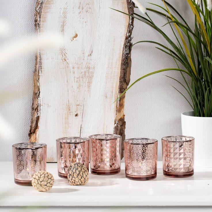 Komplet świeczników Mix Copper 8cm, 8cm - Dekoria #Candlesticks #swieczki #swieczniki #home #dom #decoration #inspiration #livingroom #dekoracje #interior