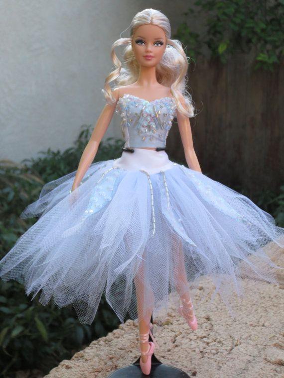 Ooak Quot Winter Fairy Quot From Cinderella Model Muse Barbie Tutu
