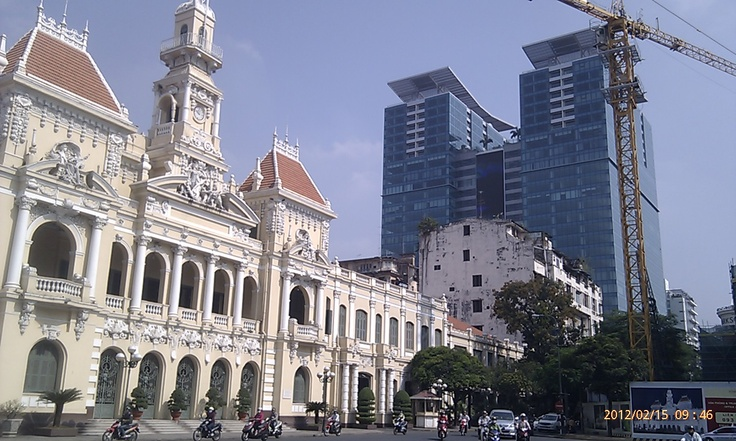 The three styles of Ho Chi Minh City architecture, French colonial, utilitarian communist and Neo Singaporese.