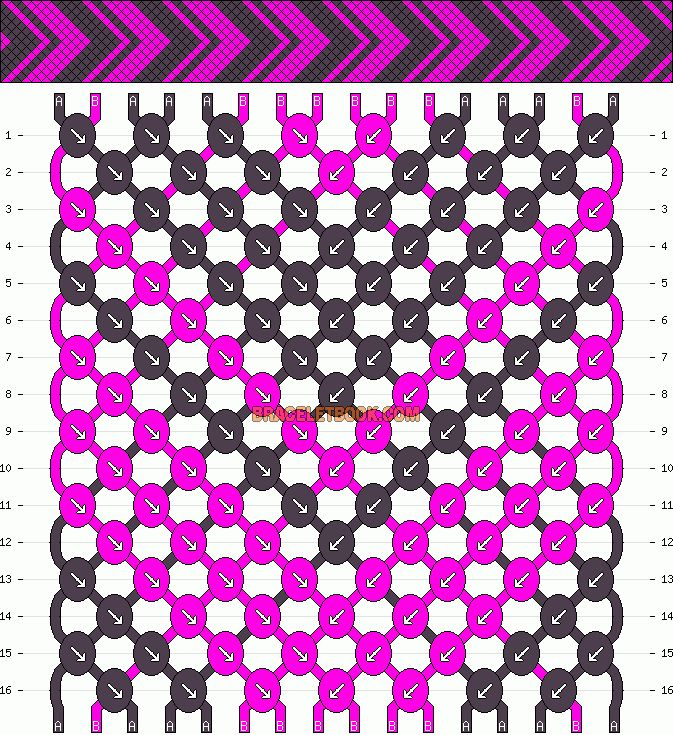 Normal Friendship Bracelet Pattern #9981 - BraceletBook.com