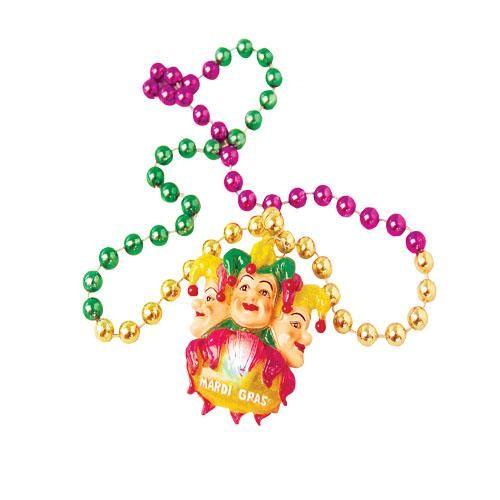 Flashing Mardi Gras Necklace