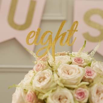 These stunning sparkle gold table numbers are made from acrylic and will make each table on the big day stand out.
