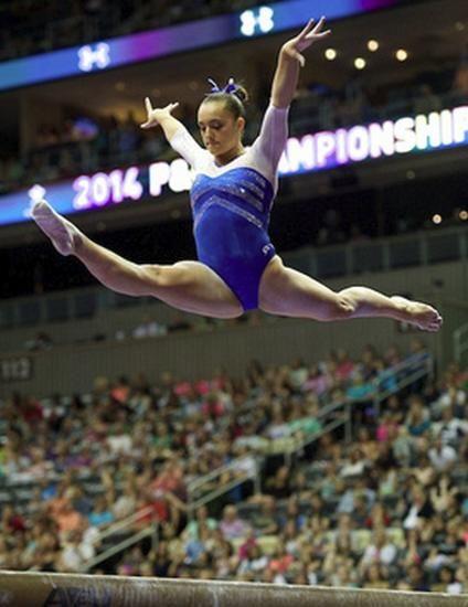 MCSMaria's Artistic Gymnastics Blog: Maggie Nichols Training A Full Twisting Double Lay...