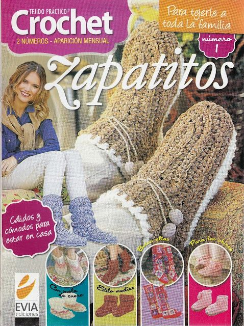 Butterfly Creaciones: revista tejido pràctico crochet zapatitos 1 evia