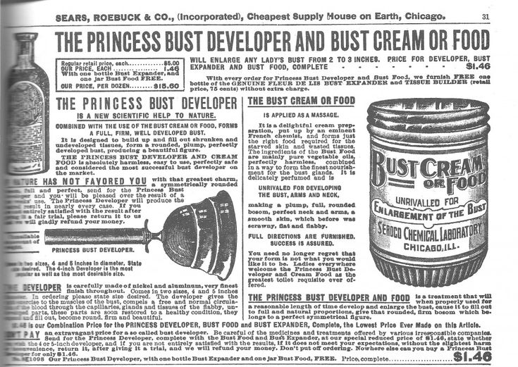 1897 Bust Developer... and cream?