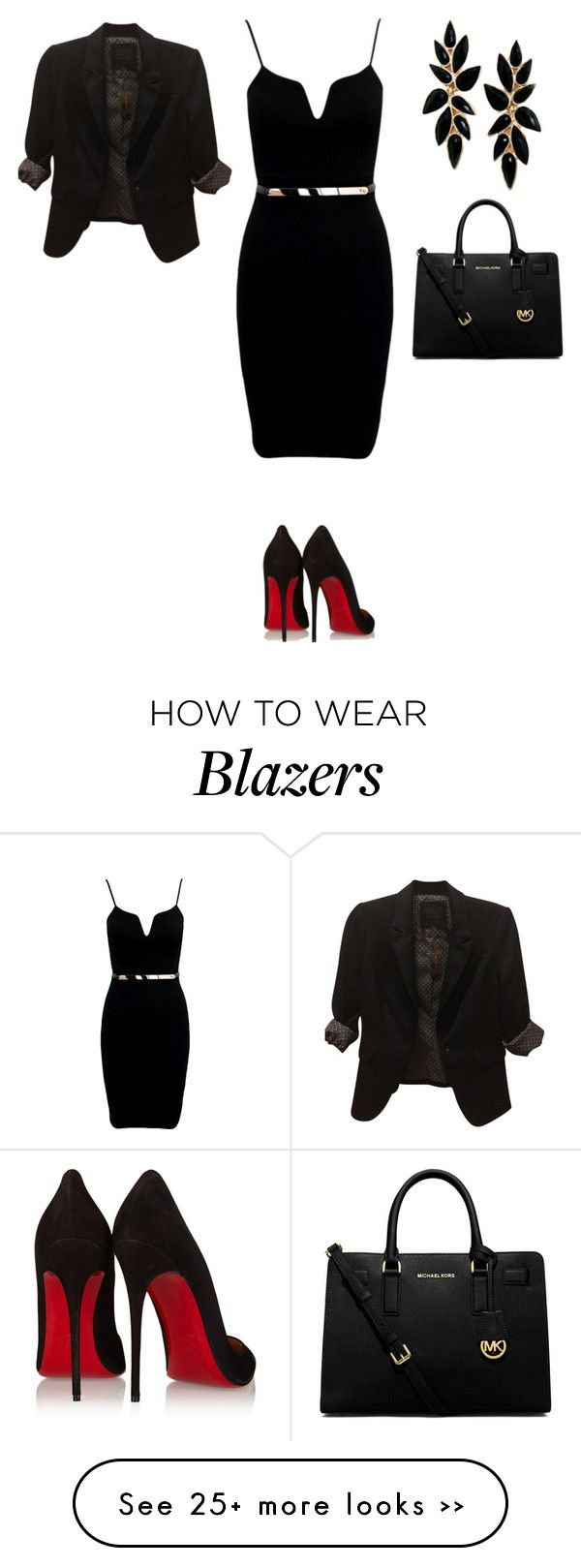 """Trabalho"" by malu-880 on Polyvore featuring Christian Louboutin, MICHAEL Michael Kors and The Limited"