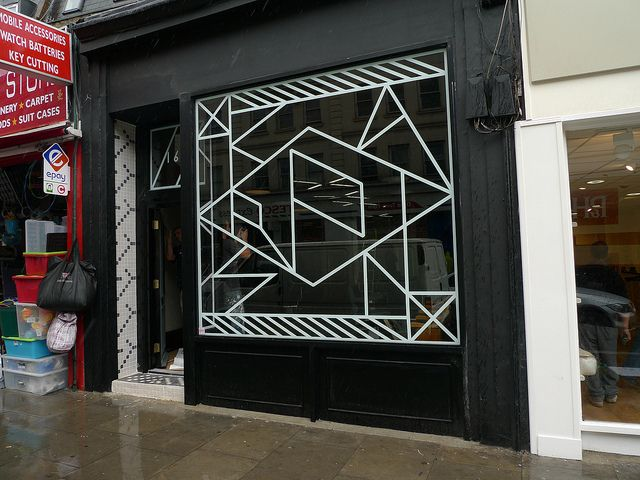 Onward Display - window cut vinyl