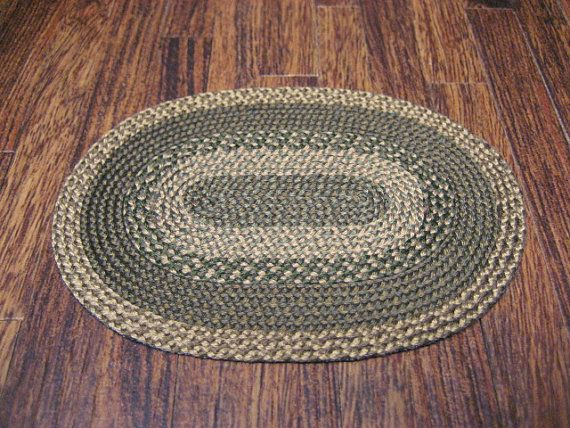 Miniature Dollhouse Braided RUG Mat