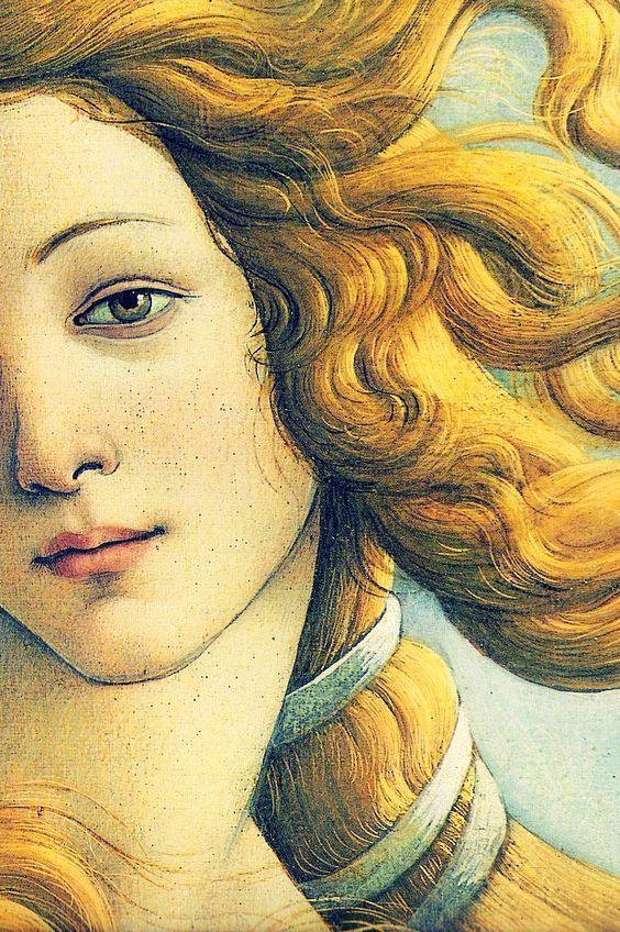 Sandro Botticelli, Nascita di Venere, particolare del volto di Venere