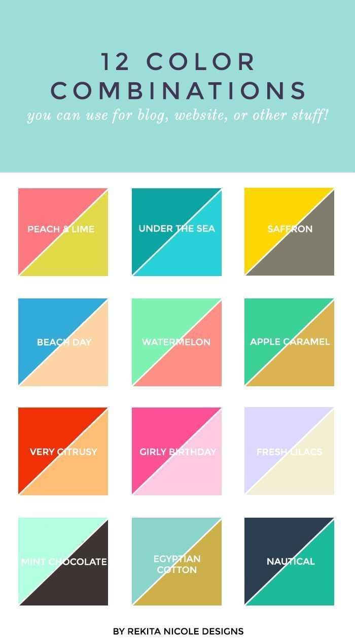 12 Color Combinations