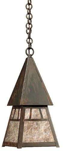 Arroyo Craftsman DH-4AM-BZ Dartmouth Collection 1-Light Exterior Hanging Lantern, Bronze Finish with Almond Mica Panels by Arroyo Craftsman. $222.00. From the Manufacturer                Arroyo Craftsman DH-4AM-BZ Dartmouth Collection 1-Light Mini-Pendant features a Bronze finish complemented by Almond Mica panels in a classic Craftsman design that will sure to enhance any decor for many years to come with the superior craftsmanship. Hanging over a kitchen island, or enhanc...