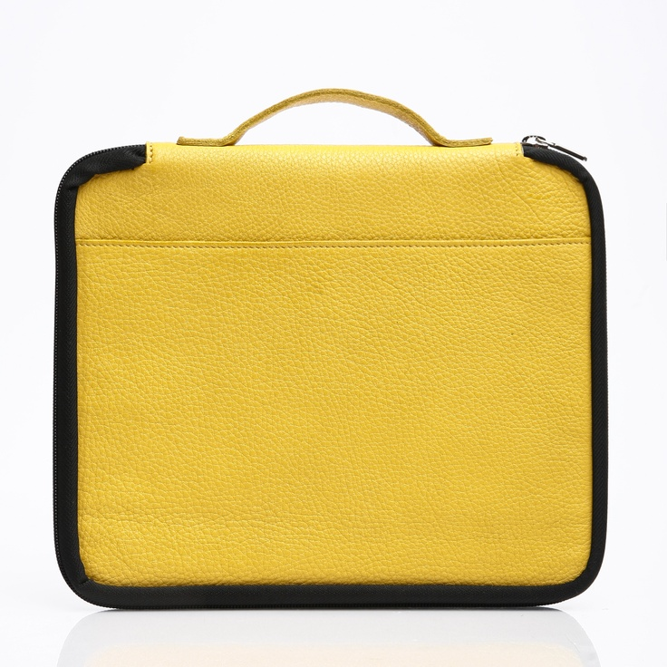 I-case in Sunshine Yellow Prince Leather, $118
