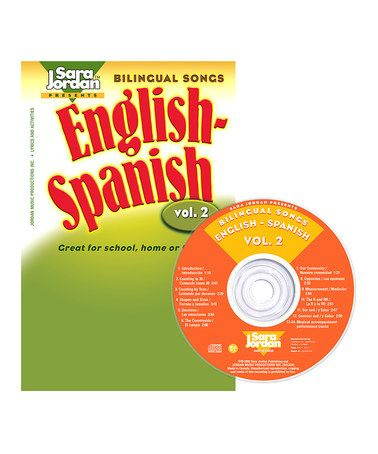 Take a look at this Bilingual Songs: English-Spanish Songs Vol. 2 CD & Lyrics Book by Sara Jordan Publishing on #zulily today!