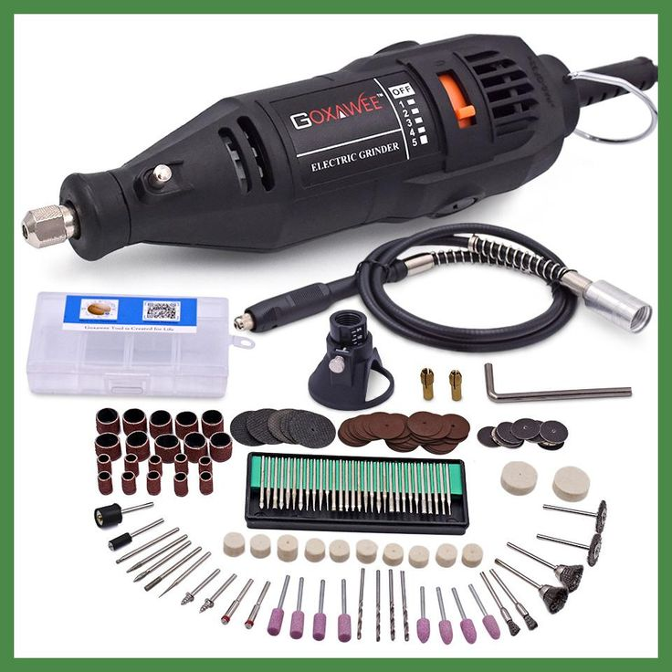 220V Electric Mini Drill For Dremel Rotary Tool Variable Speed Mini Drill with Flexible Shaft and 160pcs Dremel Accessories