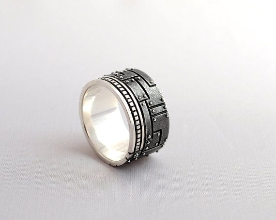 Hey, I found this really awesome Etsy listing at https://www.etsy.com/listing/224437174/sterling-silver-industrial-ring