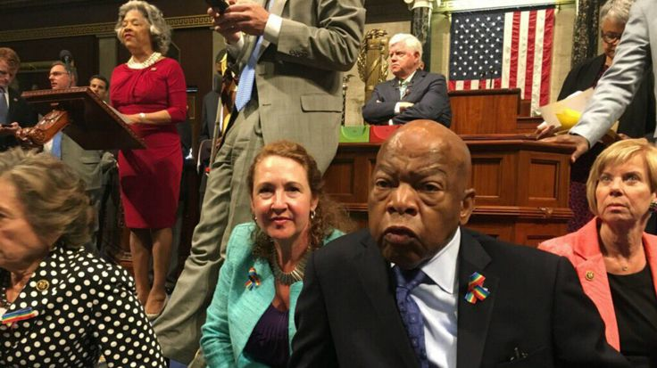 John Lewis Leads Democratic Sit-In on House Floor to Demand Action on Gun Control