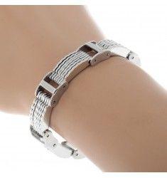Snyggt massivt rostfritt armband för herrar / killar.
