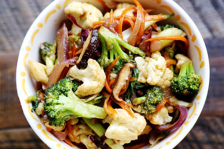 "Vegetable Stir Fry with Carrots, Broccoli and Cauliflower ~ via this blog, ""Divine Healthy Food""."
