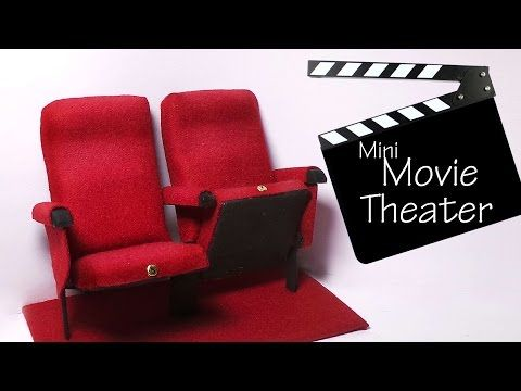Miniature Movie Theater Chairs Tutorial - Polymer Clay & Mixed Media - YouTube