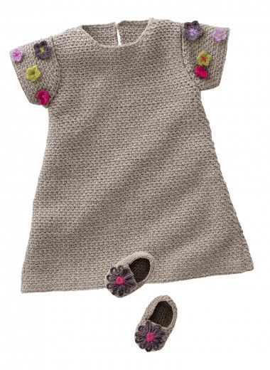 Mag. 160 - n° 26 Robe et chaussons Tricothèque,  #free #pattern #crochet