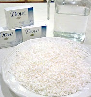 How To Make Your Own Body Wash:        6 cups water  3 bars of soap, grated      Put into a pan on the stove on medium heat, stirring occasionally until all the soap is dissolved.    Transfer to a glass jar or bowl and allow to cool, then pour into a plastic bottle for shower use! (It will thickens as it cools).