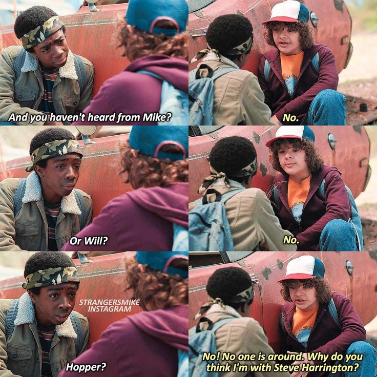 """482 Likes, 20 Comments - Stranger Things ⚘ (@strangersmike) on Instagram: """"❦ 2.06 ➻ (ᴄʜᴀᴘᴛᴇʀ sɪx: ᴛʜᴇ sᴘʏ) This is another underrated friendship! I love them and also cause I…"""""""