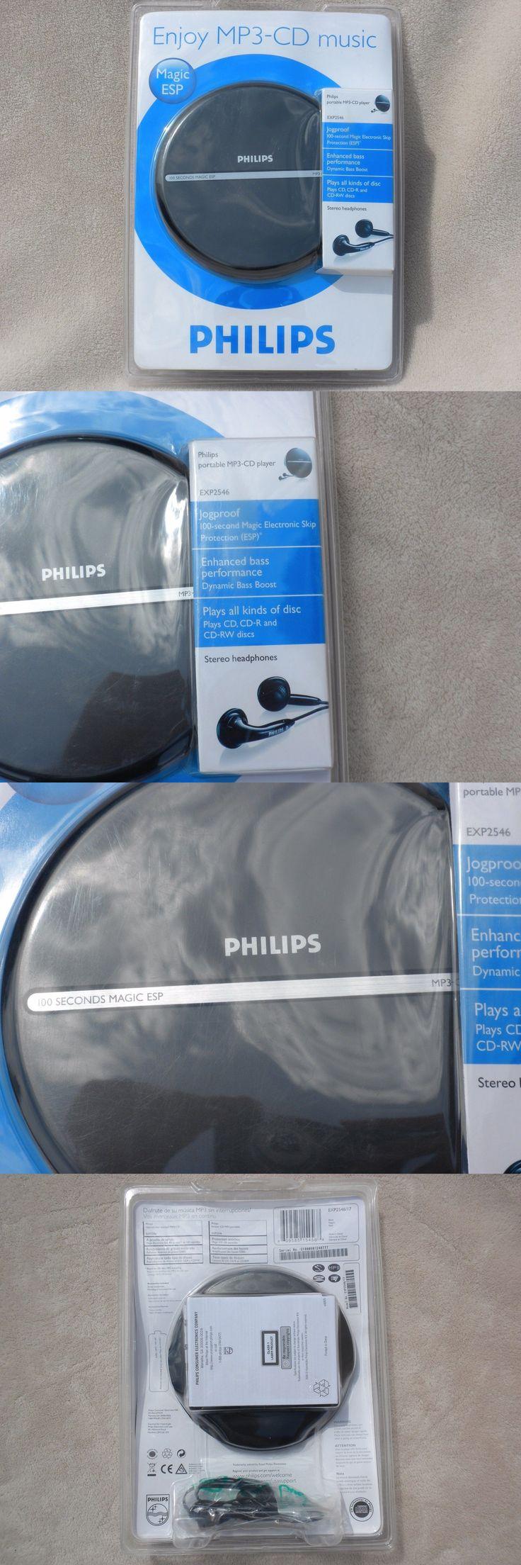 Personal CD Players: Philips 100 Second Magic Esp Jog Proof Cd+R Cd+Rw Discman W Headphone -> BUY IT NOW ONLY: $49.99 on eBay!