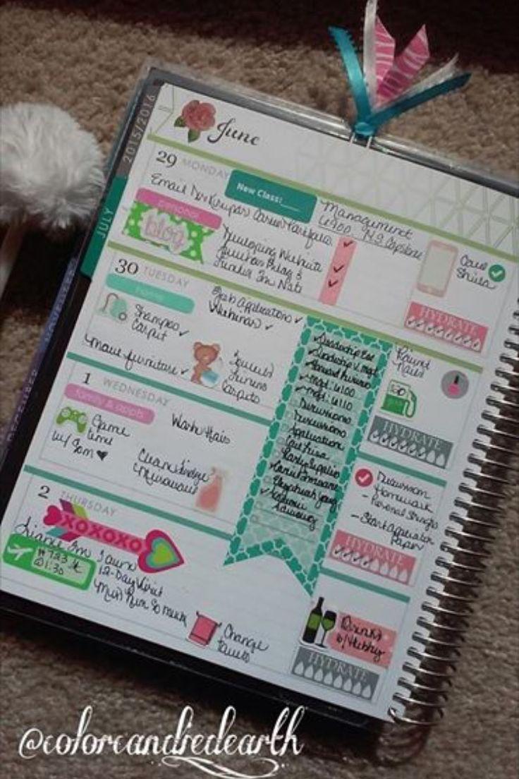 Erin Condren Horizontal Planner, Erin Condren Weekly page layout