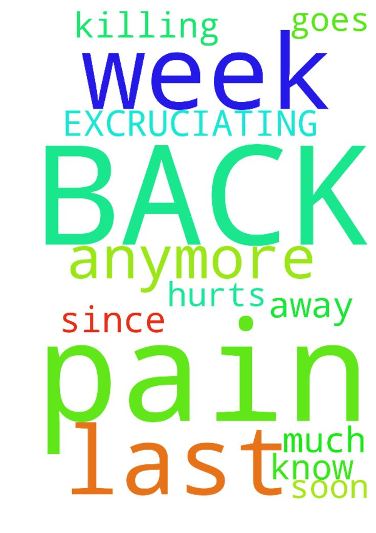 EXCRUCIATING BACK PAIN -  My back has been killing me again since last week. It hurts so much that I do not know what to do anymore. Please pray the pain goes away soon, in Jesus Name. Amen  Posted at: https://prayerrequest.com/t/nXh #pray #prayer #request #prayerrequest
