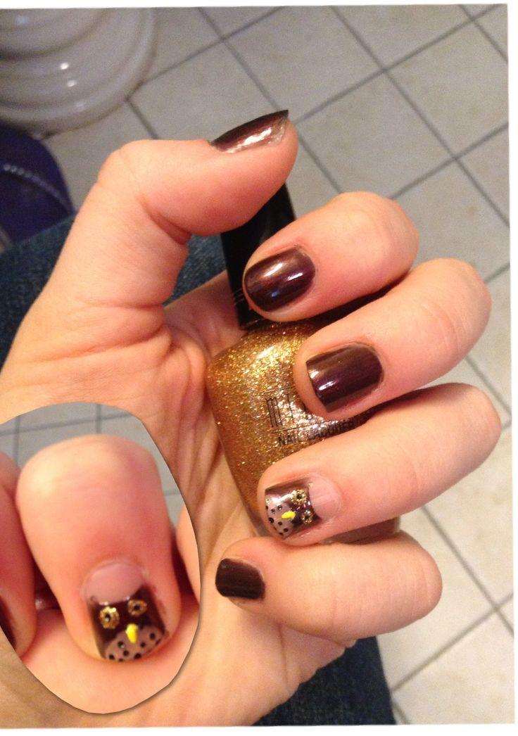 Percy Jackson inspired nails: Athena