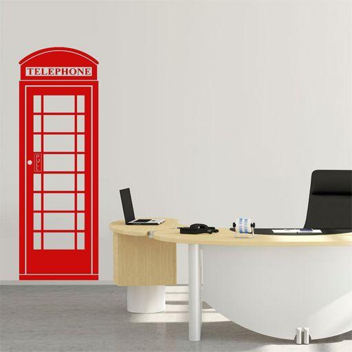vinilo decorativo de la famosa cabina roja de telfono de londres un icono reconocido de - Vinilos Baratos