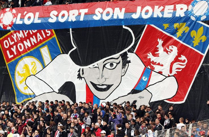 Soccer Tifos from around the World - Lyon fans during a game against Saint Etienne.