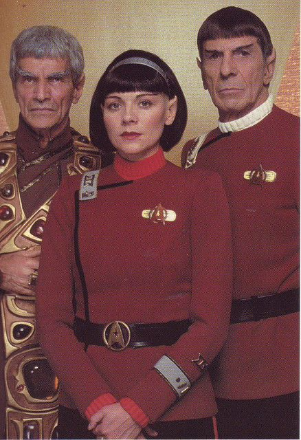 https://flic.kr/p/4vSw5j | Star Trek VI The Undiscovered Country - Sarek, Lt. Valeris and Captain Spock