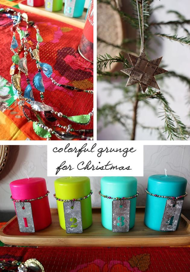 the creative night shift: Colorful Grunge Christmas