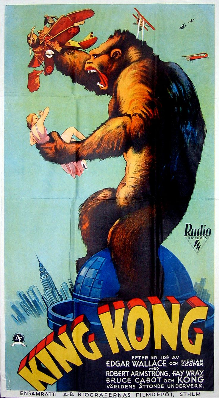 King Kong is a 1933 American fantasy monster/adventure film directed and produced by Merian C. Cooper and Ernest B. Schoedsack. The screenplay by James Ashmore Creelman and Ruth Rose was from an idea conceived by Cooper and Edgar Wallace. It stars Fay Wray,....