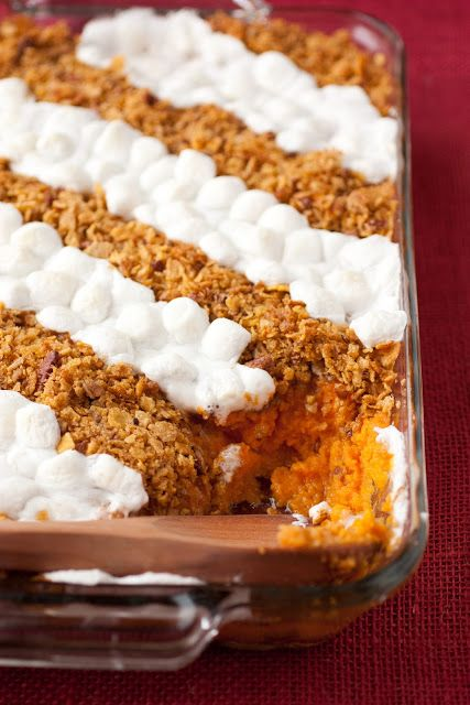 Browned Butter Sweet Potato Casserole for 12