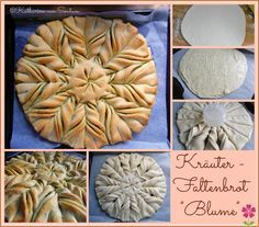 Kräuterbrot, Blumenbrot, Kräuterblumenbrot, Kräuterbaguette, Brot in Blumenform, Nutellablume, Nutellabrot, Kräuter-Blumenbrot,