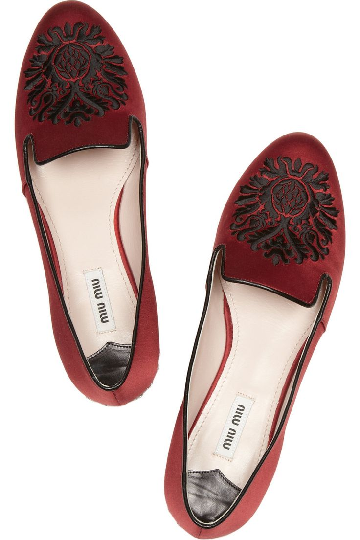 Miu Miu perfectperfectperfect satin-covered smoking slippers. Saving my money, man.