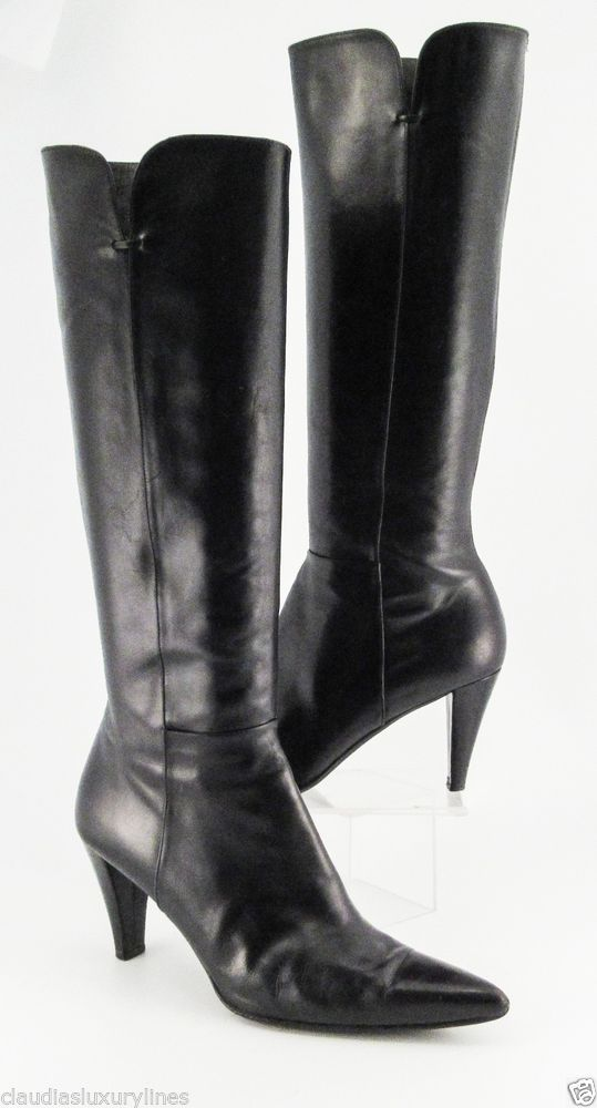 Stuart Weitzman Pointed Square-Toe Knee-High Boots clearance store cheap online sale buy dduQt9
