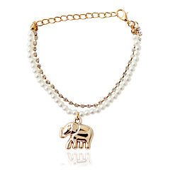 Bracelet Chain Bracelet Alloy / Imitation Pearl Animal Shape Fashion Jewelry Gift Gold / White,1pc – AUD $ 2.70