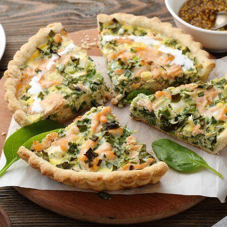 Это очень вкусный открытый пирог Киш - рассыпчатое песочное тесто и сочная, ароматная начинка.