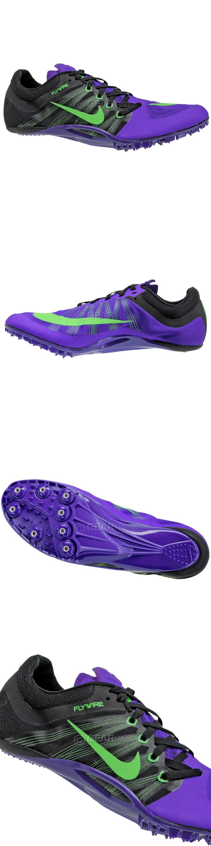 Track and Field 106981: New Nike Zoom Ja Fly 2 Mens Track And Field Spikes Sprint Shoes Black Purple, 8.5 BUY IT NOW ONLY: $46.9