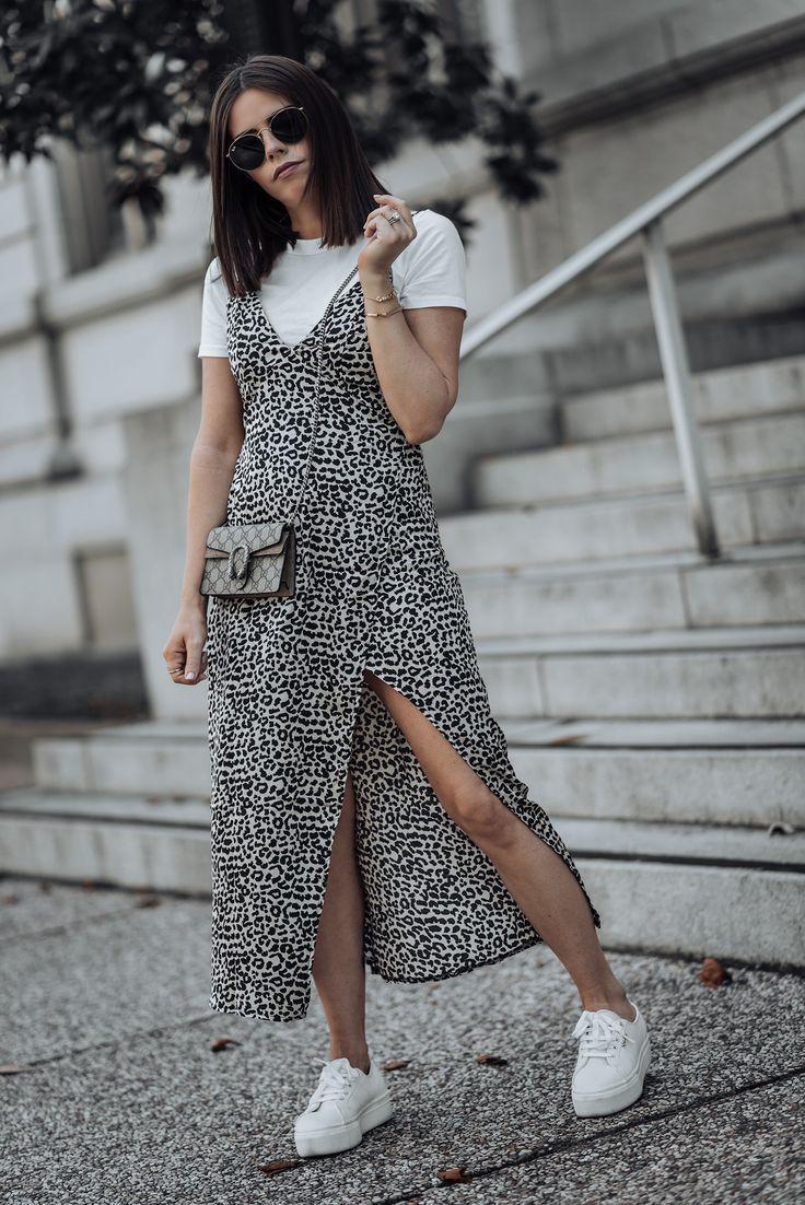 Leopard Flaunt And Center Platform Sneakers Outfit Fashion Platform Outfit [ 1102 x 736 Pixel ]