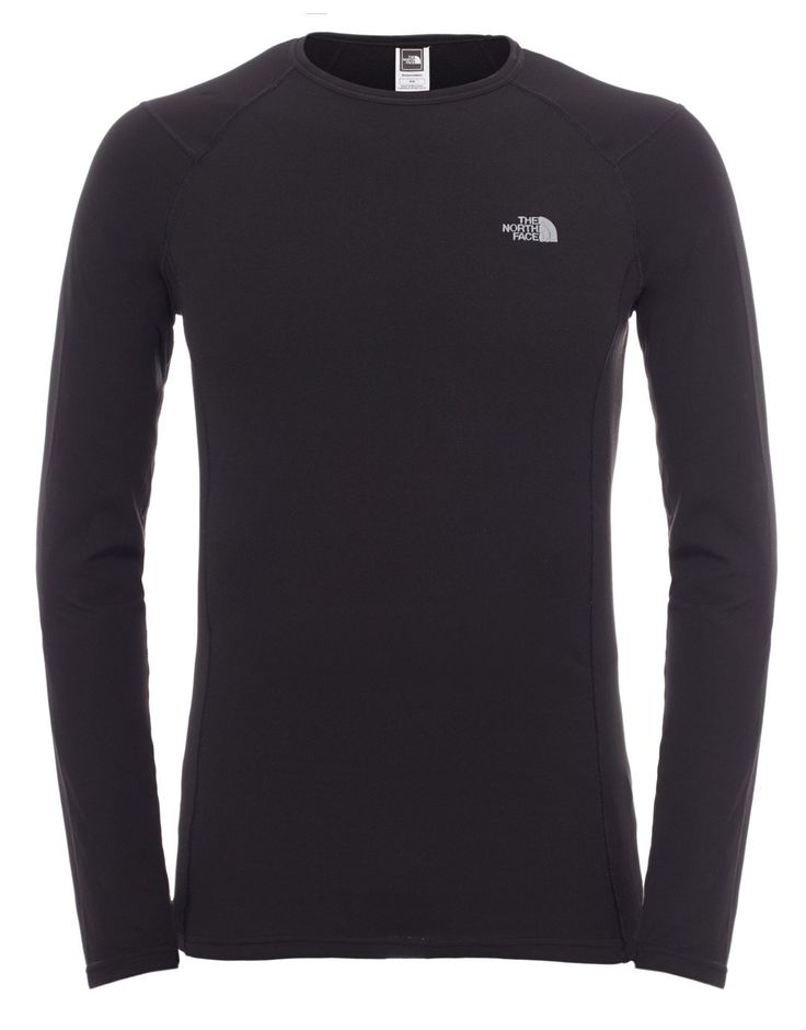 Mens Warm Long Sleeve Crew Neck - TNF Black - Medium Black: The North Face Mens Warm Long Sleeve Crew Neck base layer is an… #OutdoorGearUK