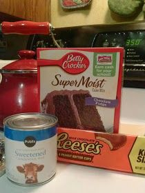 Easy Reese's Cake! Just a couple of ingredients and you have an extremely yummy cake! Check out Jessica's blog!