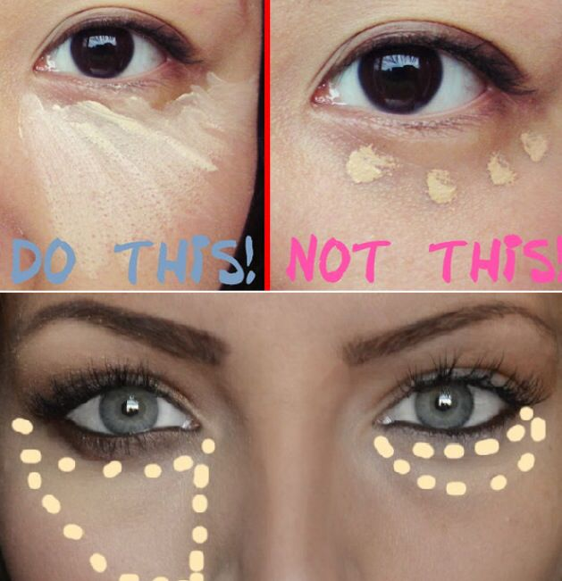 The correct way to put on concealer! (Without looking like you were wearing tanning goggles!)