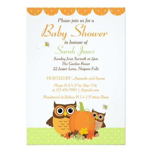 184 best fall baby shower invitations images on Pinterest Baby