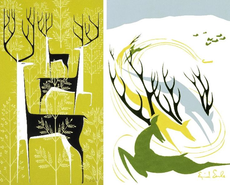Between 1938 and 1972 Eyvind Earle produced over 800 holiday card designs, and sold well over 300 million cards world wide.