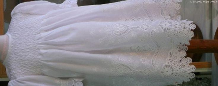 Крестильные принадлежности ручной работы. Ярмарка Мастеров - ручная работа Великолепное белое платье для крещения.. Handmade.