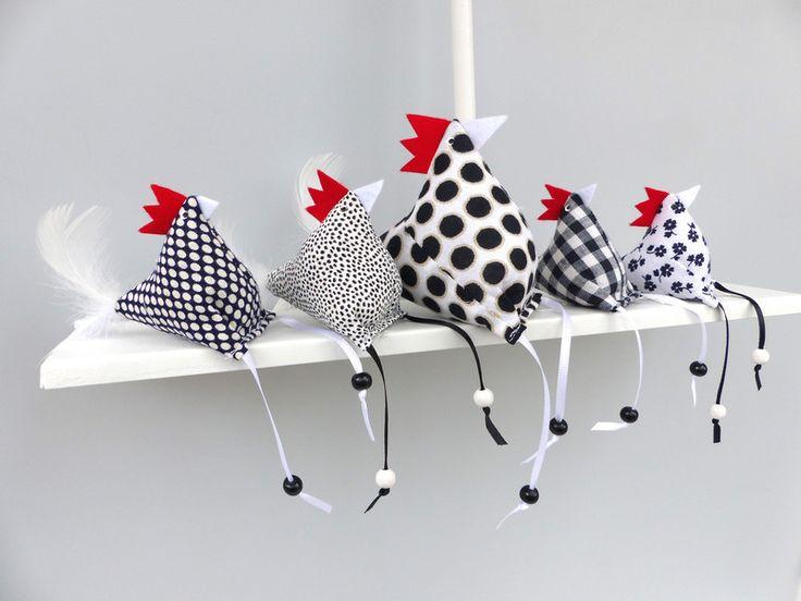 5+Hühner+Huhn+(4+kleine+Hühner+,+1+größeres+Huhn)+von+Firlefanz-Design+auf+DaWanda.com